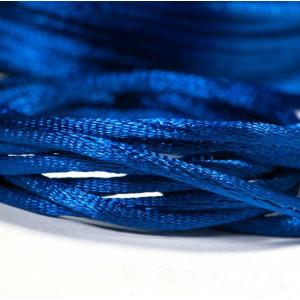 Атласный шнур для кумихимо, синий, 2 мм...
