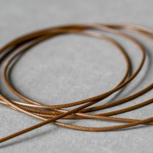 Шнур вощеный синт., светло-коричневый, 1,5 мм...