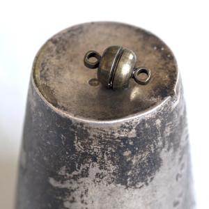 Застежка магнитная круглая, античная бронза, 12х7 мм...