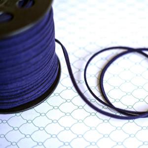 Шнур из искусственной замши, темно-синий, 3х1,4 мм...
