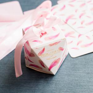 Коробка из картона, розовый бант, 8x8x6 см...
