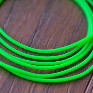 Шнур резиновый, с отверстием, цвет зеленый неоновый, ди...