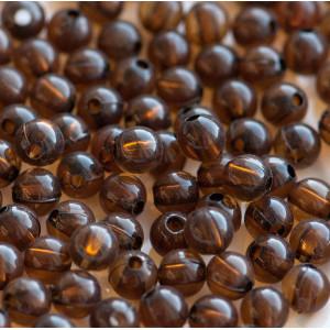 Бусина акриловая круглая, цвет кофейный, 6 мм (уп 30шт)...