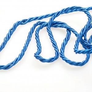 Витой полиэстеровый шнур, яркий синий, 2,5 мм...