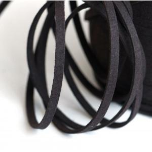 Шнур из искусственной замши, коричневый, 5х1.5 мм...