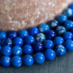 Бусины агата, цвет синий, окрашен., 8 мм...