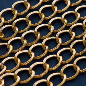 Цепочка для бижутерии, алюминий, цв. золото, 15x20 мм...
