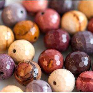 Бусина мукаит 12, граненая, цвет натуральный, 12 мм...