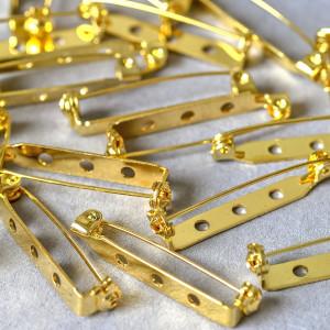 Основа для броши, цв. золото, 32x5 мм...