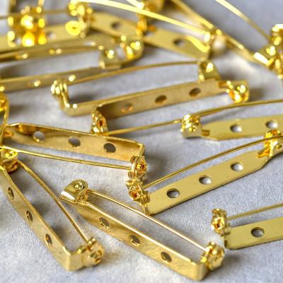 Основа для броши, цв. золото, 32x5 мм