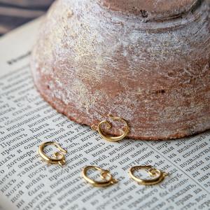 Швензы (основы для сережек), светлое золото, 15,5x11x2 ...