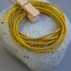 Витой полиэстеровый шнур, темно-золотой, 1,5 мм...