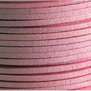 Шнур из искусственной замши, темно-розовый, 3х1.5 мм...