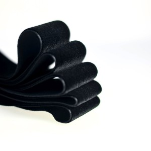Бархатная лента, черный, ширина 38 мм...