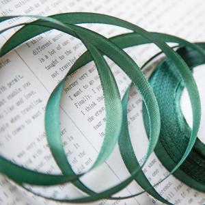 Атласная лента, темно-зеленый, ширина 10 мм...