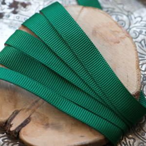 Репсовая лента, темно-зеленый, ширина 9,5 мм...