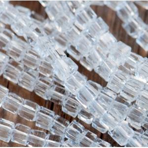 Бусина стеклянная граненая, прозрачный, 2х2 мм (уп 5г)...