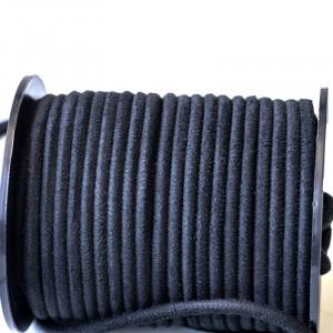Шнур из искусственной замши, черный, 3 мм...