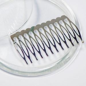 Гребешок для волос, античное серебро, 64x39 мм...