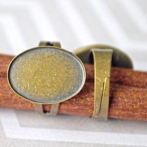 Заготовка для кольца, античная бронза, 13х18 мм...
