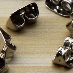 Фиксаторы (застежки) для сережек, платина, 5.5х4х3 мм...