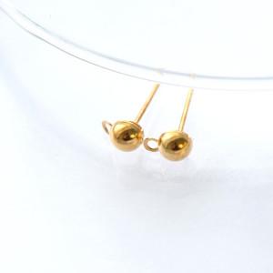 Пуссеты-гвоздики, золото, 12х4,5 мм...