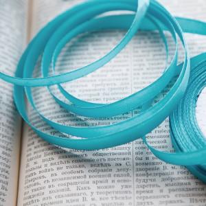Атласная лента, яркий голубой, ширина 10 мм...
