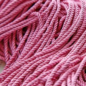 Витой полиэстеровый шнур, розовый, 3,5 мм...