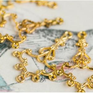 Коннектор 1-5 отв, золото, 23x37x1.5 мм...