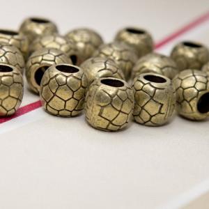 Бусина-тоннель металлическая, цвет античная бронза, 11х...