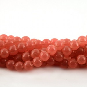 Бусина стеклянная окрашенная, розовый, 8 мм...
