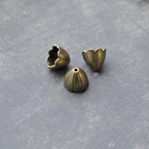 Колпачок для бусин, античная бронза, 17x17х15 мм...