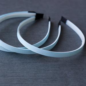 Основа для ободка, пластик с лентой, голубой, 110-140x9...