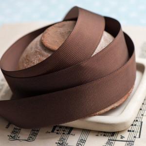 Лента из репса, цвет коричневый, ширина 25 мм...