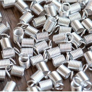 Концевик-зажим пружинный, серебро, 9х5х3.5 мм...