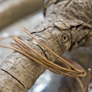 Кожаный шнур, коричневый, диаметр 1 мм...