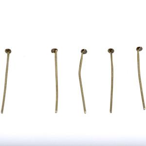 Пины-штифты с петлей, ант. бронза, 32х0,7 мм (210-240 ш...