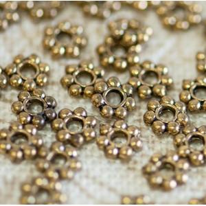 Разделитель-рондель для бусин, античное золото, 4х1 мм ...