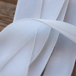 Бархатная лента, белый, ширина 19 мм...