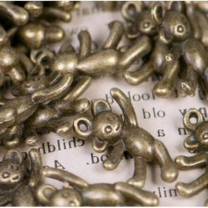 Подвеска металлическая в виде мишки, античная бронза, 1...