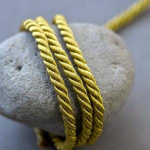Витой полиэстеровый шнур, темно-золотой, 5 мм...