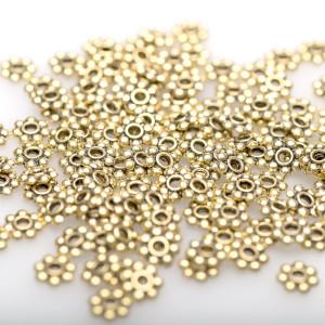 Разделитель-рондель для бусин, ант. золото, 6х1,5 мм  (...