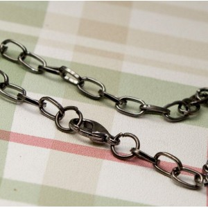 Заготовка-цепочка для браслета, черный, 20 см...