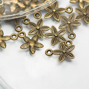Подвеска металлическая в виде цветка, античная бронза, ...