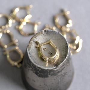 Швензы (основы для сережек), с позолотой,  цвет золото,...