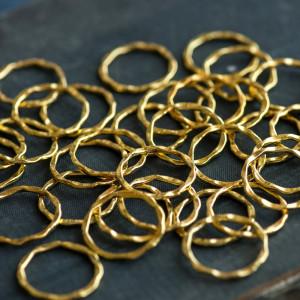 Коннектор, форма кольца, античное золото, 22x1,5 мм...