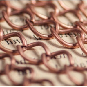 Цепочка для бижутерии, цвет - медь, размер звена 9х7х1....