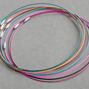 Чокер сталь в оплетке, разные цвета, 44.5 см толщина 1 ...