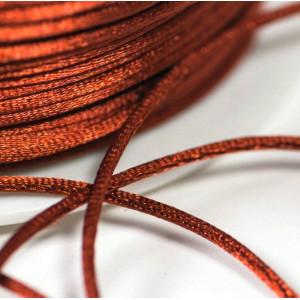 Шнур атласный для кумихимо, цвет медный, 1 мм (4 м)...