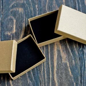 Коробка для браслета из картона, 90х70х30 мм...